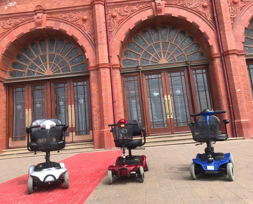 Mobility Scooters at Blackpool Tower