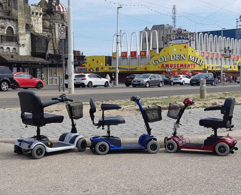 Mobility Scooters on The Golden Mile
