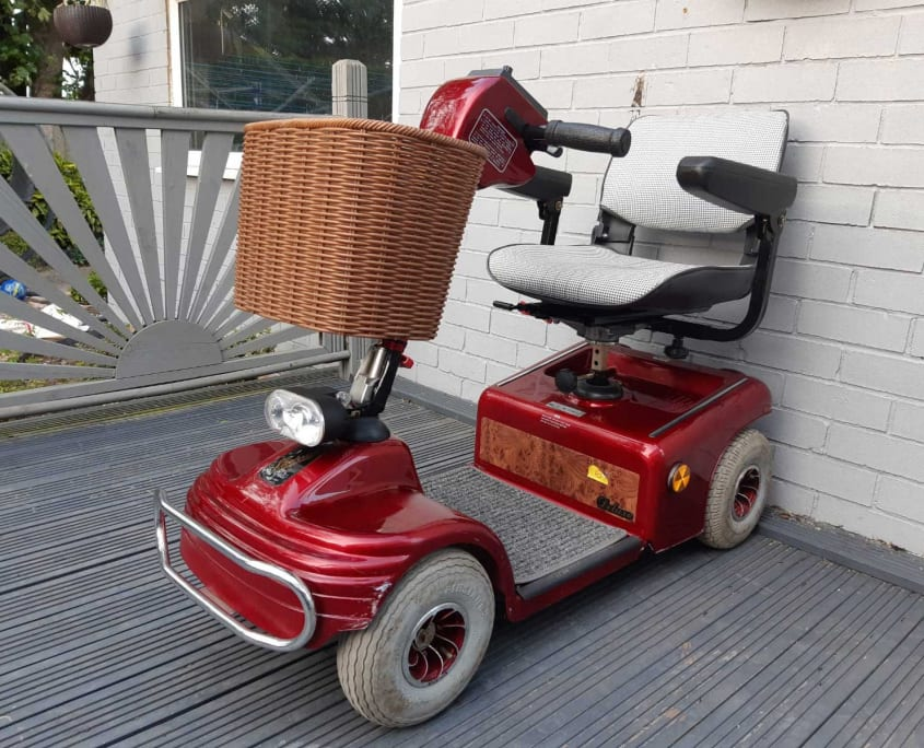 Red Mobility Scooter for hire