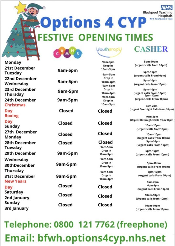 Christmas Opening Times 6