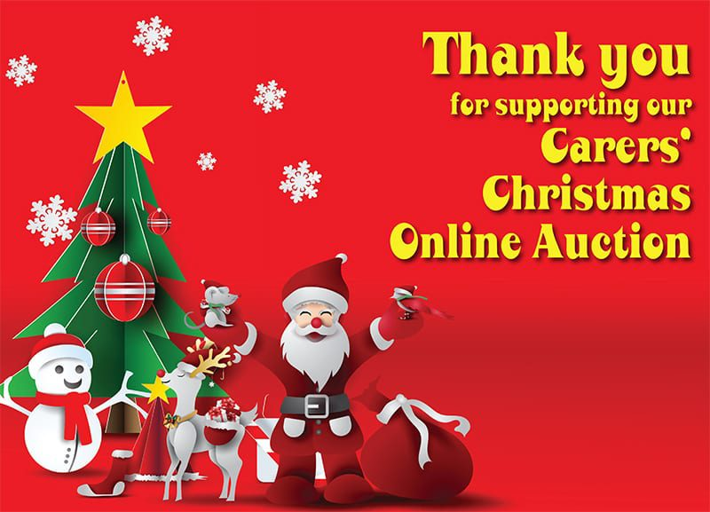 Our Carers' Christmas Online Auction raised 2