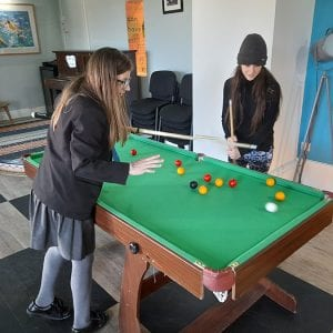 Young Carers playing Pool