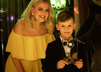 Lucy Fallon with Young Fundraiser of the Year at our Masquerade Ball