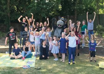Rocco with NCS and YCs in garden