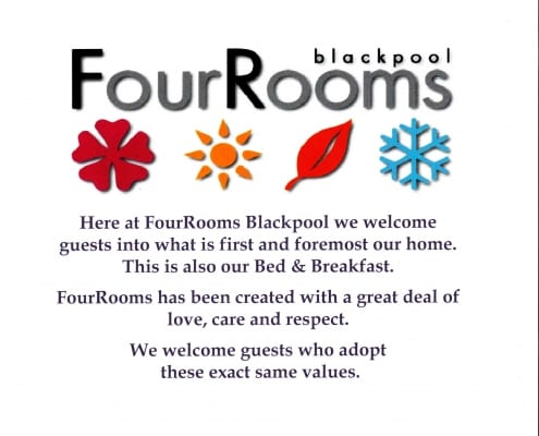 FourRooms Statement jpg 495x400 Blackpool B&B
