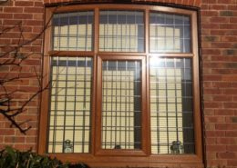 Light Oak Woodgrain Window